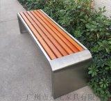 步行街木质户外长椅,室外园林景观长条凳