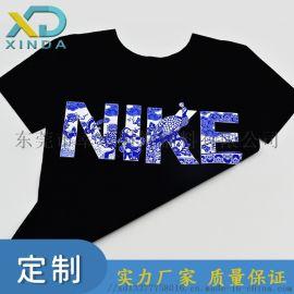青花瓷中国风元素硅胶热转印数码烫画贴支持定制