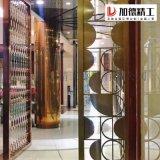 北京高要求拉絲鈦金不鏽鋼屏風 鏤空花格 不鏽鋼隔斷