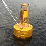 发出信号雾号雾钟的海上 戒线塑料 示浮标