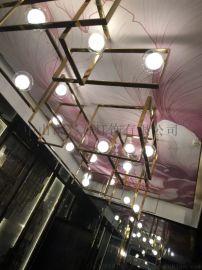 酒店定制灯具 会所不锈钢灯具 厂家供应