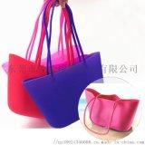 環保防水硅膠購物袋女士手提沙灘包硅膠手提袋可定制