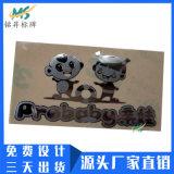 定做婴儿车金属字logo商标贴超薄分体贴纸金属标贴