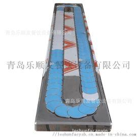 青岛乐顺发厂家定制纯不锈钢回转火锅设备