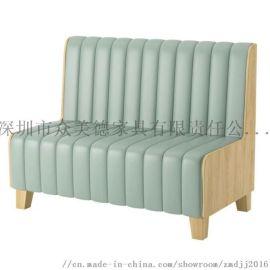 时尚轻奢皮革座椅,餐厅卡座沙发定制,沙发尺寸加工