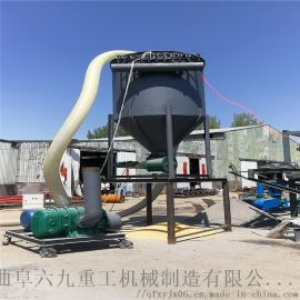 大倾角输送机 粉煤灰螺旋提升机 六九重工 自吸式气