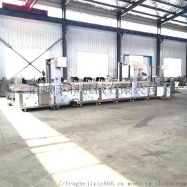 鱼豆腐油炸生产线,连续式油炸机,网带式薯条生产线
