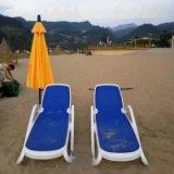 蓝色特斯林布进口ABS塑料户外休闲简约沙滩躺椅泳池