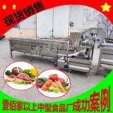 现货供应4米不锈钢蔬菜气泡清洗机