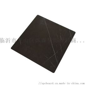SPC墙板 哑光黑白根 仿石纹装饰板 环保防火板
