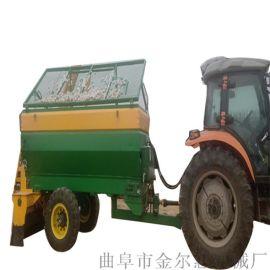 农家粪肥大棚用施肥机/牛羊粪大型撒粪车