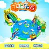 新疆巴音郭楞大型水上樂園移動充氣水滑梯夏季玩耍