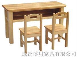 四川实木儿童学习桌椅定制 四川幼儿园饭桌厂家直销