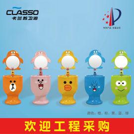 儿童立柱盆陶瓷洗手盆幼儿园卫生间洗脸盆洗手池