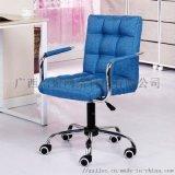 旋抬搭柱彩棉椅 桂林塑钢布棉家具 河池阅览工作椅