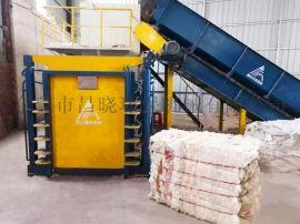 广东东莞闭门式半自动卧式打包机 塑料废纸液压压缩机