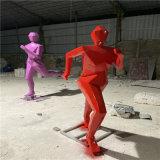 学校体育运动人物雕塑 广州平板剪影人物雕塑厂家