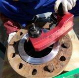 法兰光面水纹线 便携式法兰面修复机