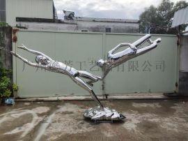 市政园林城市雕塑304不锈钢抽象人物