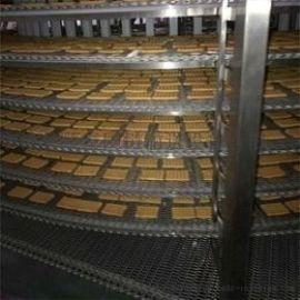 不锈钢螺旋网带速冻机螺旋速冻塔 多层转弯螺旋输送机食品冷却塔