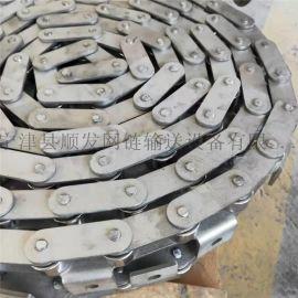 传动用双节距滚子链耐高温耐腐蚀定制工业传动输送不锈钢链条包邮