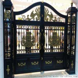 天津静海区别墅欧式大门楼梯栏杆专业制造厂家
