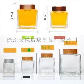无铅高档加厚透明玻璃瓶蜂蜜瓶燕窝瓶四方瓶密封瓶