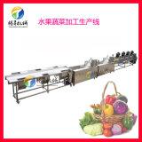 蔬菜水果清洗风干生产线 中央厨房配送中心生产设备