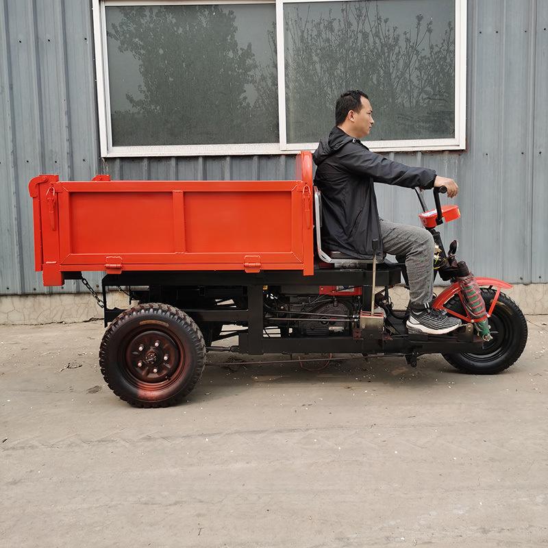工地柴油三轮车 农用拉货运输自卸三轮车翻斗三轮车