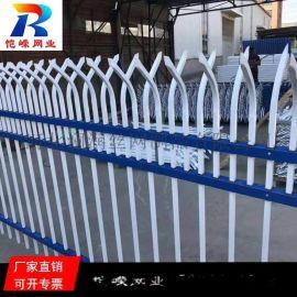 合肥锌钢工地围栏网 铁艺围墙喷塑栏杆