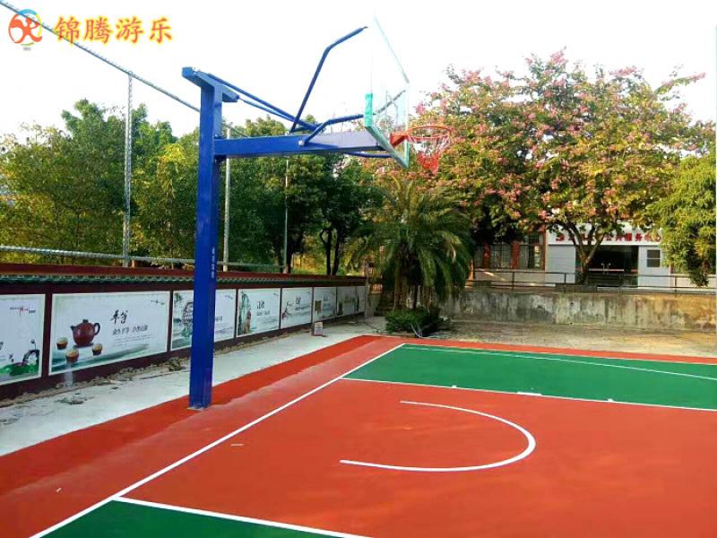 长沙市CBA篮球架设计图生产安装 室内外箱体篮球架