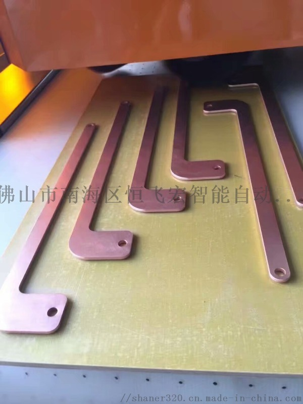 铜排倒角拉丝双工艺一次成型,钣金去毛刺倒角设备