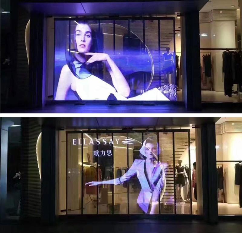 透明LED屏戶外玻璃幕牆防水高清拼接格柵廣告顯示屏