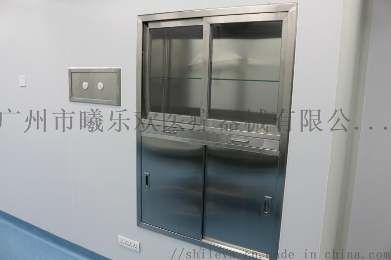 不鏽鋼手術器械櫃,醫用嵌入式麻醉櫃,手術窒暗裝櫃