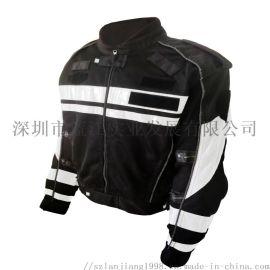 深圳龙岗交警黑色铁骑服定做 透气防摔摩托车骑行服