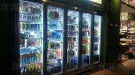 商用超市饮料冷藏展示柜鲜奶保鲜柜立式冰柜格瑞制冷