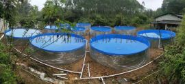 高密度养殖鱼池可折叠镀锌板支架定制尺寸