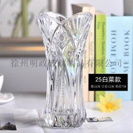欧式简约花瓶厚重富贵竹百合康乃馨花瓶客厅餐厅摆件