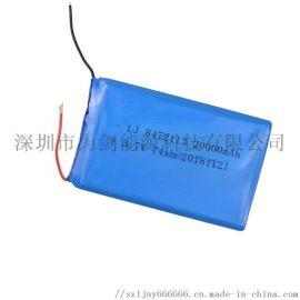 8472113高容量聚合物锂电池 20000mAh移动电源 LED灯储能用锂电池
