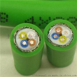 綠色PN柔性網線_工業profinet網線