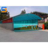 宁波厂家定制阳光板坡道雨棚,地下车库出入口雨棚
