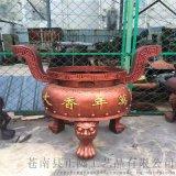 寺庙圆形香炉生产厂家 铸铁圆形平口香炉厂家