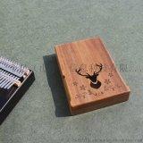相思木质卡林巴拇指琴箱单板十七音