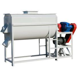 单轴卧式饲料混合机 双螺带搅拌设备畜牧养殖机械