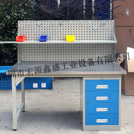 带工具柜工作台,带挂板工作台,带灯管工作台