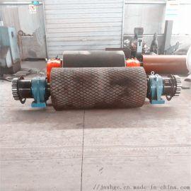 80带式输送机包胶主动滚筒 630齿轮包胶主动滚筒