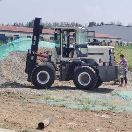 越野叉车3吨柴油 四驱燃油搬运装卸叉车