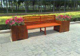 室外设施景观防腐木花箱座椅