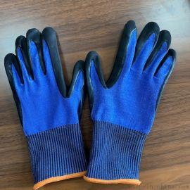 EN388 五级防切割手套 丁晴磨砂超细发泡