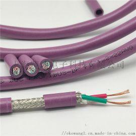 profibus拖链电缆 dp高柔性专用通讯线
